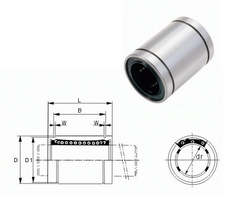 10pcs Lm12uu 12mm Linear Bushing Linear Bearings Cnc Parts