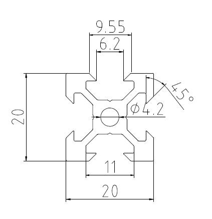 1500mm V Slot Aluminium Extrusion Linear Motion Rail 3d Printer